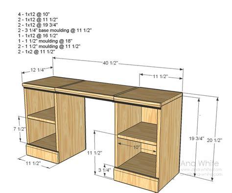 girls play vanity table desk plans diy desk