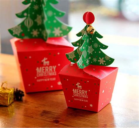 merry christmas tree gift box cake paper boxes christmas apple box pcslot  shipping