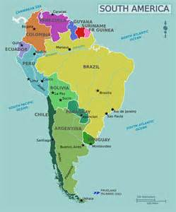 political map of south america south america