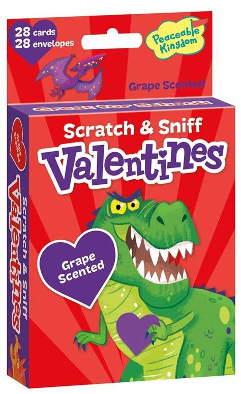 scratch valentines dinosaur valentines grape scented scratch sniff cards