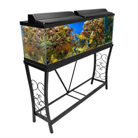 55 Gallon Stand aquatic fundamentals black scroll aquarium stand 55