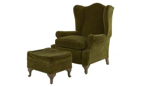 antique mohair wingback chair jayson home vintage wing chair and ottoman jayson home