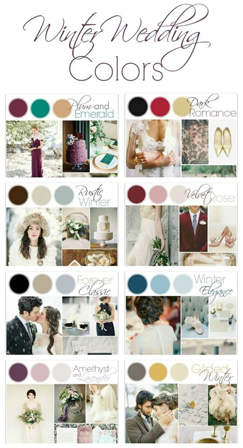 Wedding Color Ideas by 25 Best Ideas About December Wedding Colors On