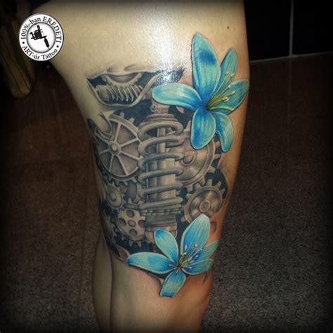 biomechanical tattoo download biomechanical tattoo with flowers by arturtattooart on