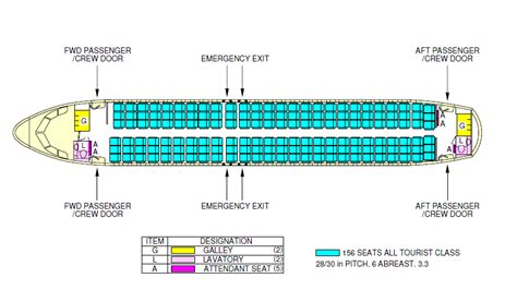 layout view c airliner how can the airbus a319 accommodate 156