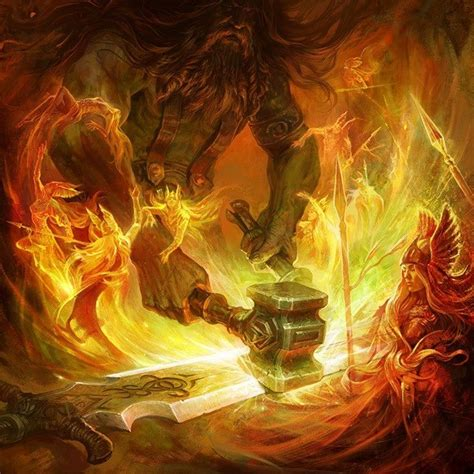 hephaestus working mystical witchery pinterest