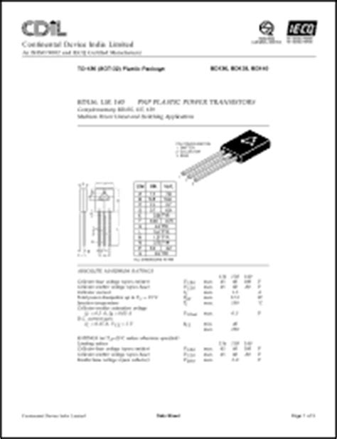 transistor bd140 16 continental device india ltd bd136 series datasheets bd138 6 bd136 bd136 10 bd140 10 bd138