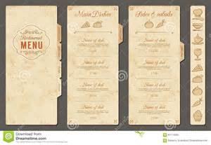 Vintage Menu Template by Vintage Vector Restaurant Menu Template Stock Vector