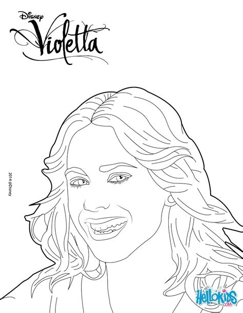 Printable Coloring Pages Violetta | violetta coloring pages hellokids com