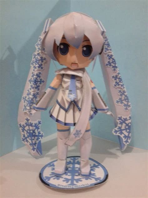 snow miku papercraft by daigospencer on deviantart