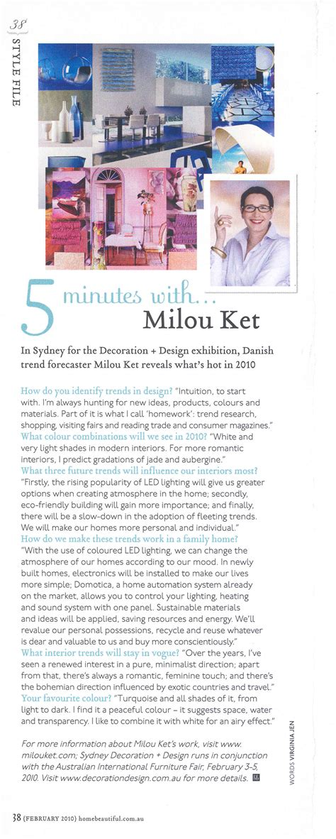 property ideal home feb 2010 with a moregeous designed milou ket styling and design press