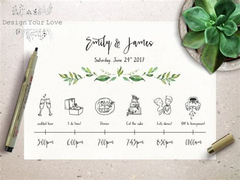 Wedding Timeline Printable Wedding Itinerary Template Green Weekend Itinerary Destination Destination Wedding Schedule Of Events Template