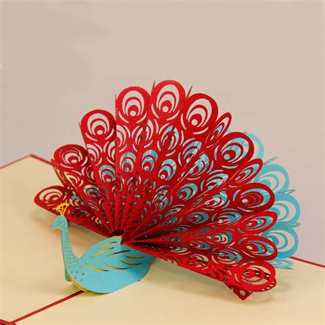 peacock pop up card template amazing cool 3d pop up cards custom greeting cards 3d