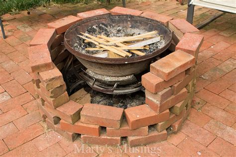 pit made out of pavers budget friendly backyard patio ideas