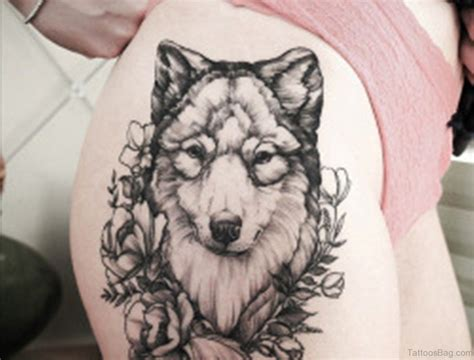 70 great looking wolf tattoos on thigh