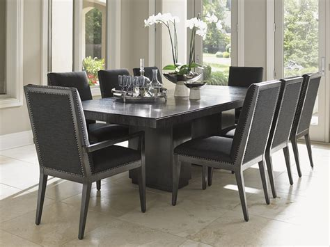 lexington furniture carrera  piece double pedestal dining