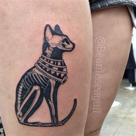 tattoo egypt cat egyptian cat x ray by sean arnold of alchemy tattoo