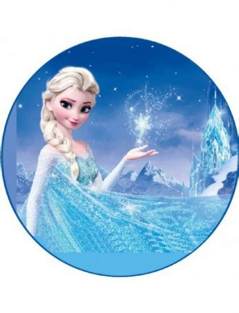 Cake Decorations At Home Frozen Mold Round Elsa With Castle