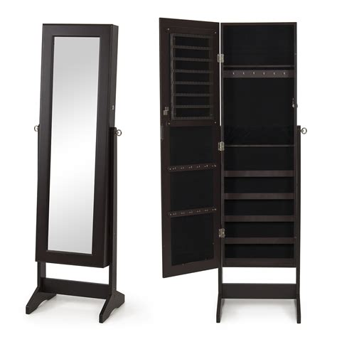 jewelry armoire mirror cabinet new mirrored jewelry cabinet mirror w stand organizer
