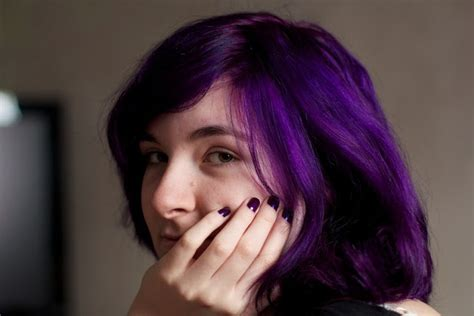 rusk violet hair color new hair directions plum