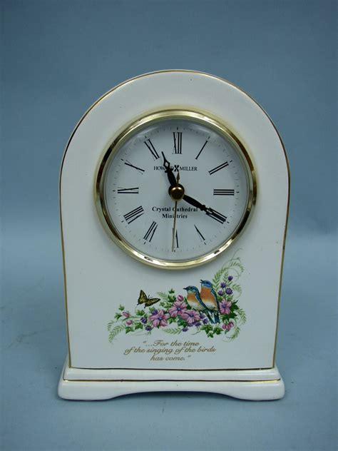 howard miller white porcelain desk mantle clock 645 211