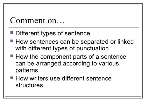types of sentences according to pattern close reading an sentence strct
