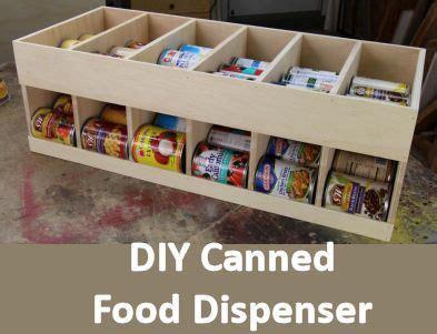 diy canned food storage rack  build  attractive