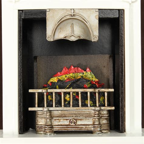 new black fireplace diy dollhouse miniature furniture