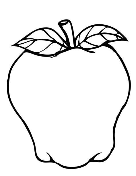 coloring apple clipart best 5 apples colouring pages