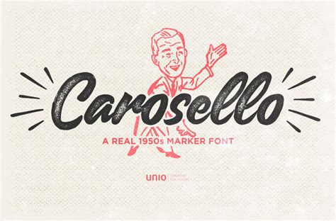 Best Handmade Fonts - 35 retro fonts to your vintage style inspired