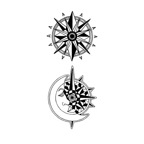 compass star tattoo designs clipart best clipart best