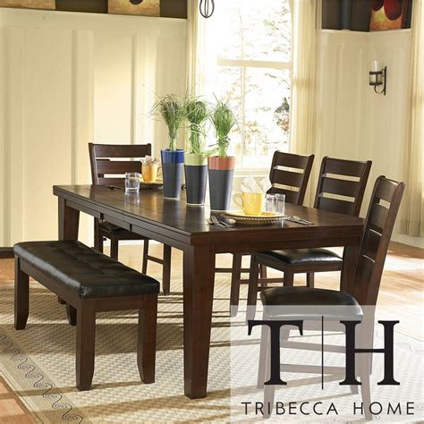 shaker espresso 6 dining table set with bench 16 best kitchen dining images on kitchen