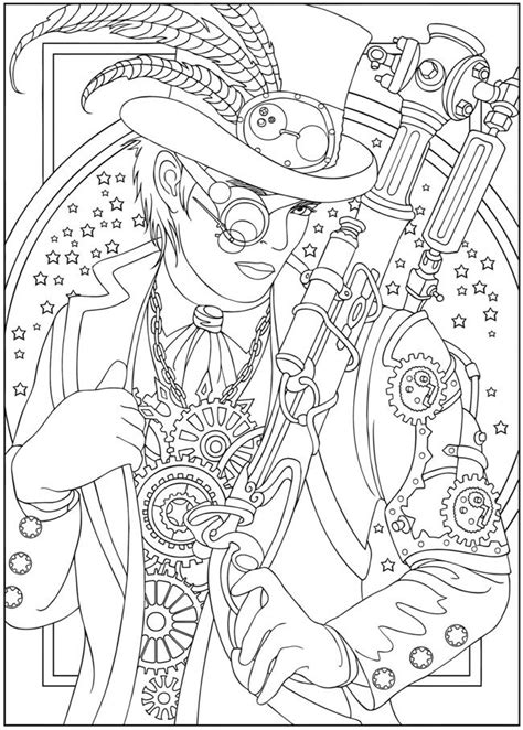 Advanced Coloring Pages Pinterest | advanced coloring pages for adults steunk design 2