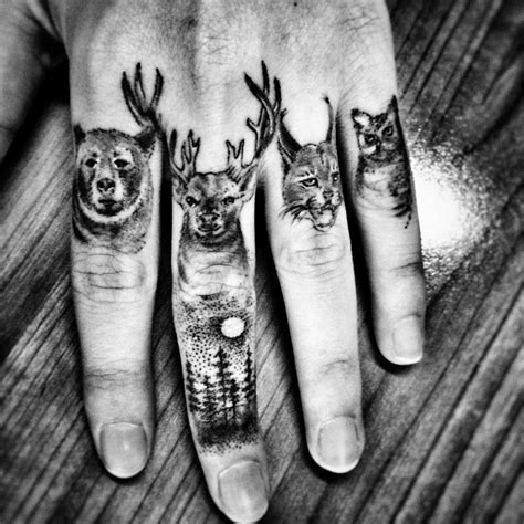 animal finger tattoos 60 secret finger tattoos that nobody will see tattoozza
