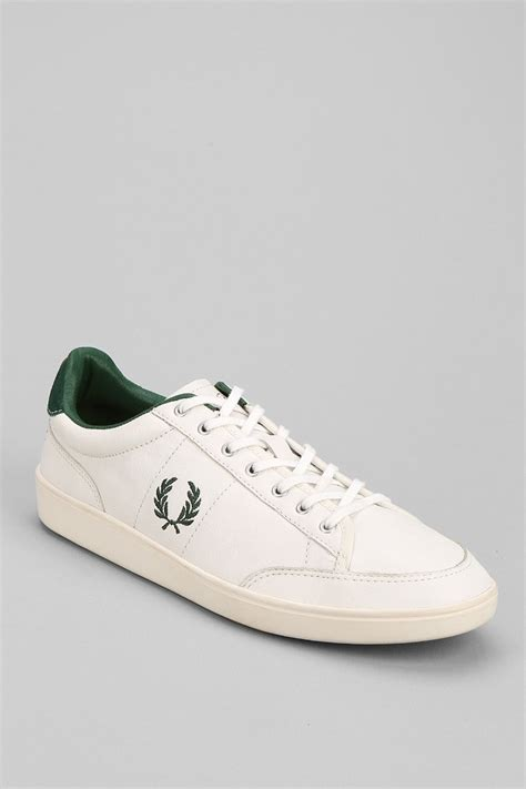 fred perry shoes lyst fred perry hopman leather shoe in white for