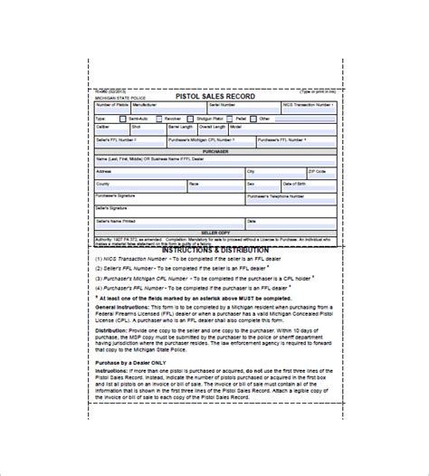 gun receipt template doc gun bill of sale template 10 free word excel pdf