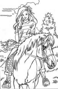7ecee7ae4ad8fa7b3ea4ebbbacd09dc0 barbie horse riding coloring page on birthday cake pictures to print and colour