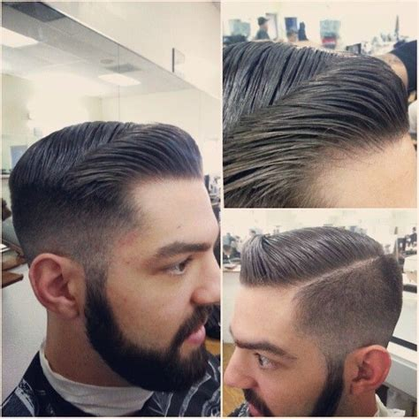 hairtyle faded on the sides mong high fade pomp w part miamibarber highfade 305 fade