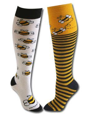 Stylehive Buzz Thigh High Scrunchable Socks Are As As They Are Cozy Fashiontribes Fashion by Mix N Match Bumble Bee Knee High Socks You Ll Be The