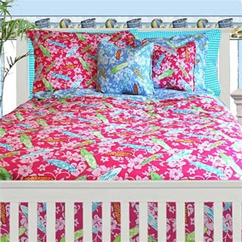surfer comforter sets surfer girl 4 piece crib bedding set by california kids
