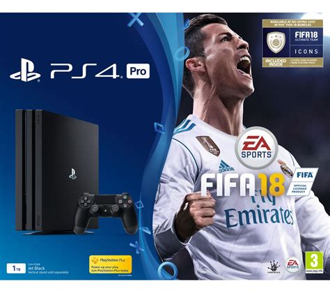 buy sony playstation 4 pro fifa 18 free delivery currys