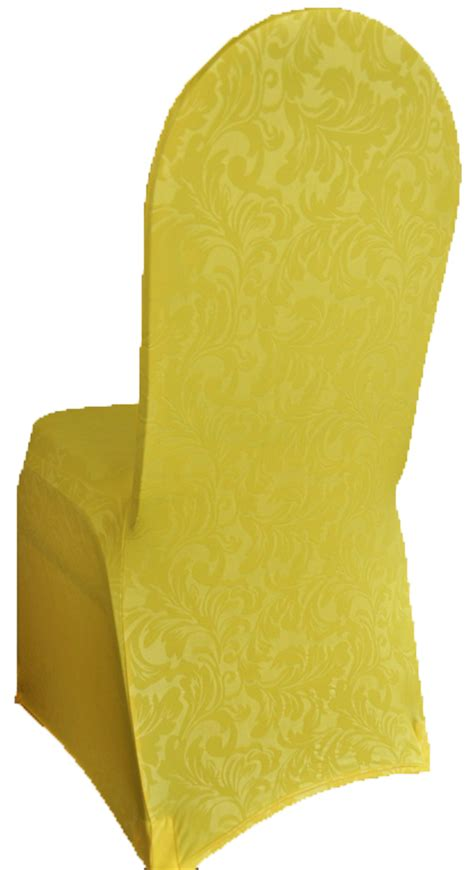 Yellow Chair Covers by Canary Yellow Embossed Spandex Stretch Chair Covers