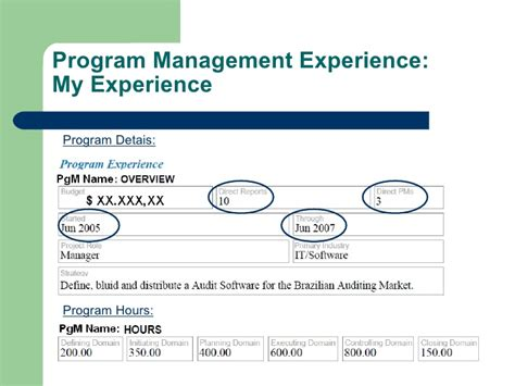 Executive Mba Experience Required by My Experience On The Pgmp Application 1 3