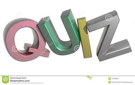 Letter Quiz Colorful Quiz Royalty Free Stock Photo Image 34758985