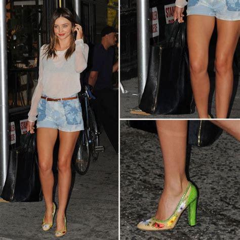 miranda kerr isabel marant shorts popsugar fashion