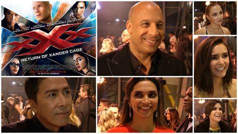 xander cage female cast xxx return of xander cage premiere interviews vin