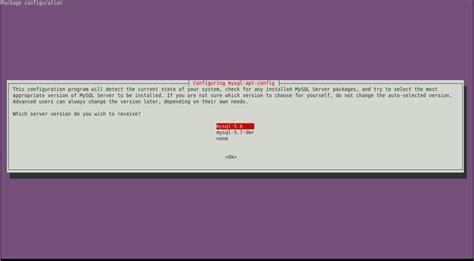 configure mysql xp ubuntu could not select ok in mysql apt config ubuntu 14 04