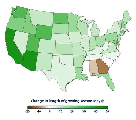 climate change indicators length of growing season climate change indicators in the united