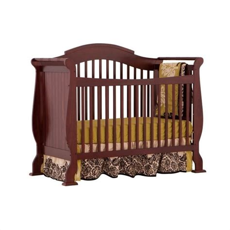 Stork Craft Ravena Crib by 4 In 1 Fixed Side Convertible Crib In Cherry Finish