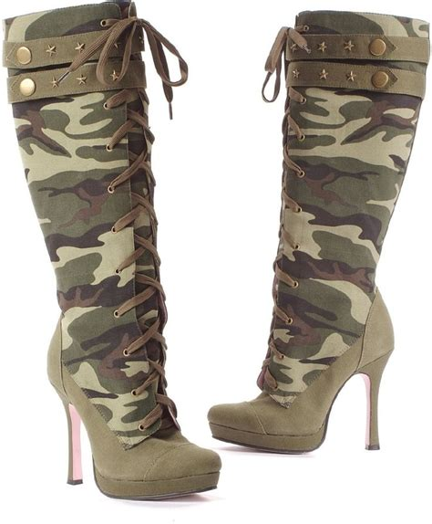 camo high heel boots camo high heeled boots shoes i